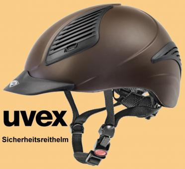Uvex Reithelm Reitkappe exxential braun-mat