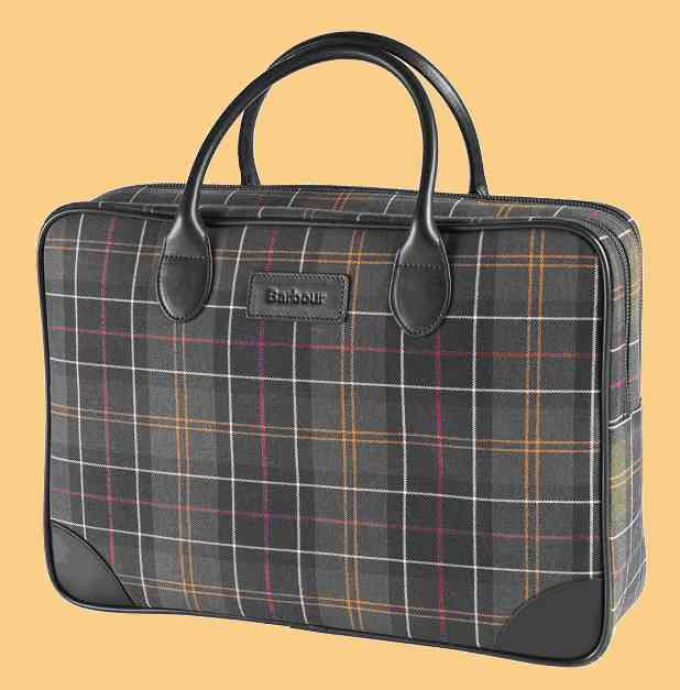 Barbour Laptoptasche Tartan